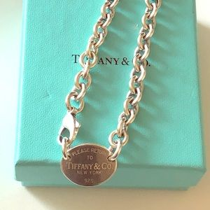 Authentic Tiffany Oval Tag Choker Necklace